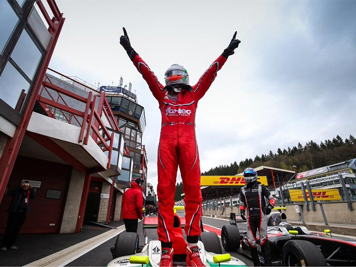 Celis logra en Spa su 1ra victoria en World Series